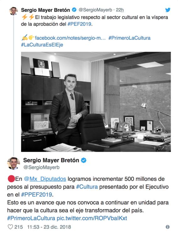 sergio mayer se retracta sobre el presupuesto para la cultura en 2019 2
