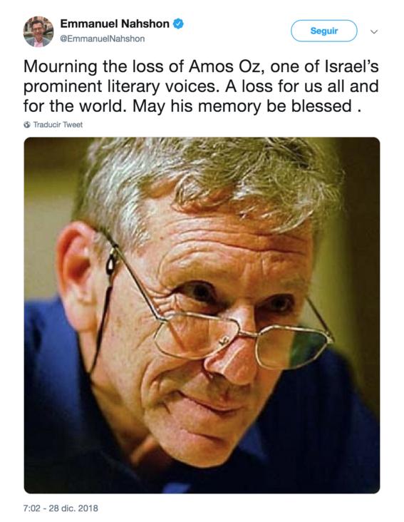 muere el escritor israeli amos oz a los 79 anos 2