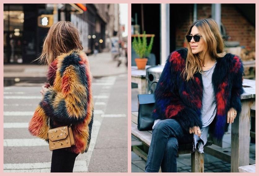 Cómo usar un abrigo de fur sin verte como un gran oso de peluche 3