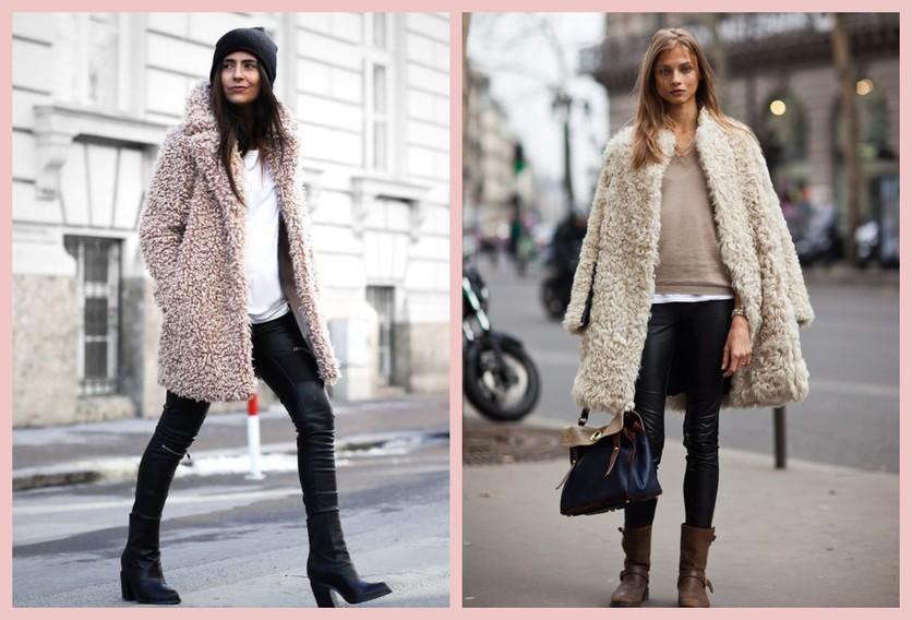 Cómo usar un abrigo de fur sin verte como un gran oso de peluche 4