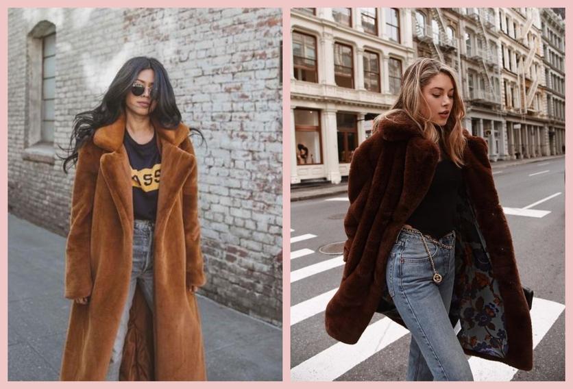 Cómo usar un abrigo de fur sin verte como un gran oso de peluche 5
