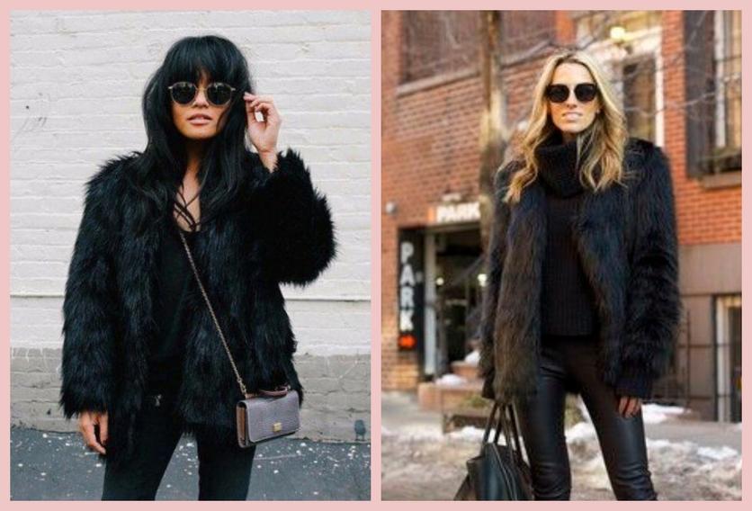 Cómo usar un abrigo de fur sin verte como un gran oso de peluche 8
