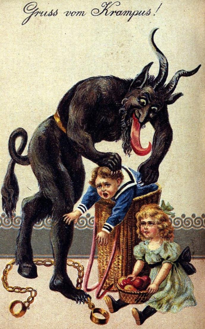 creepy santa claus alternatives around the world
