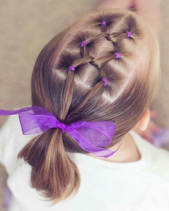 5 peinados fáciles con ligas perfectos para niñas  3