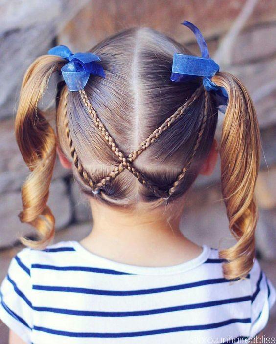 5 peinados fáciles con ligas perfectos para niñas  4