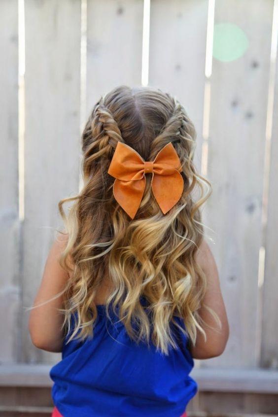 5 peinados fáciles con ligas perfectos para niñas  6
