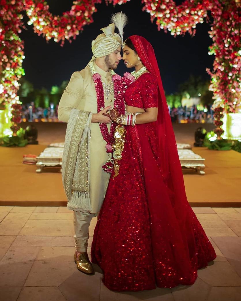 priyanka chopra nick jonas indian wedding dress