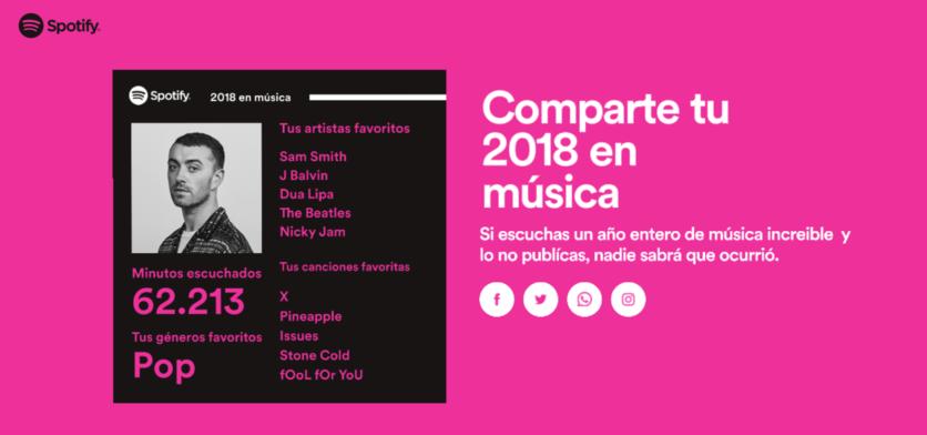 Descubre cuáles fueron tus canciones más escuchadas en Spotify en 2018 6