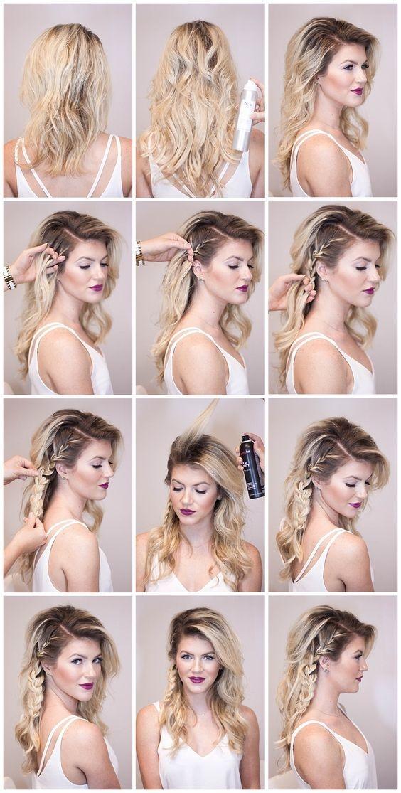 Paso a paso de peinados para cabello largo suelto 3