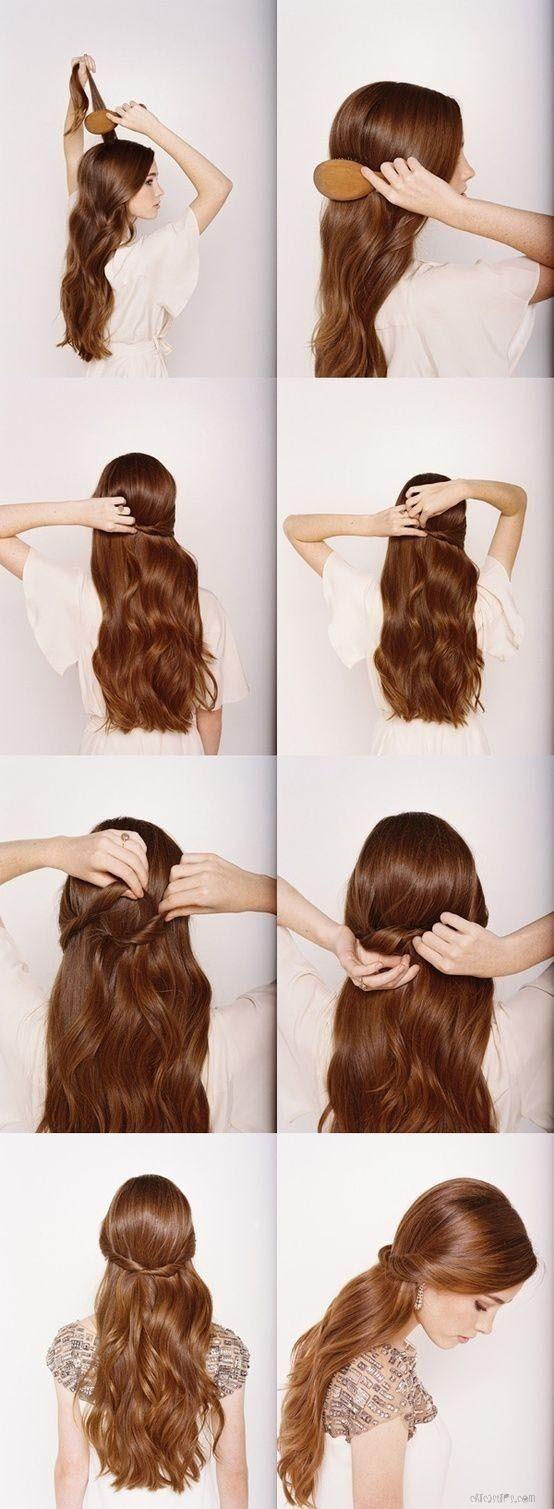 Paso a paso de peinados para cabello largo suelto 4