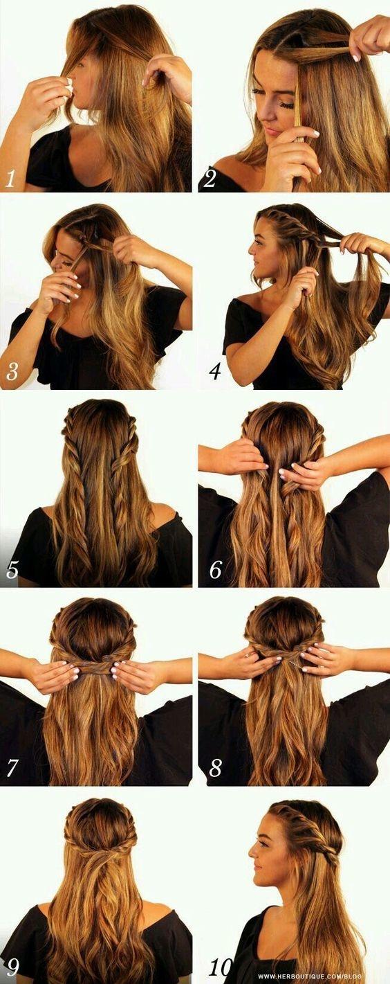 Paso a paso de peinados para cabello largo suelto 5