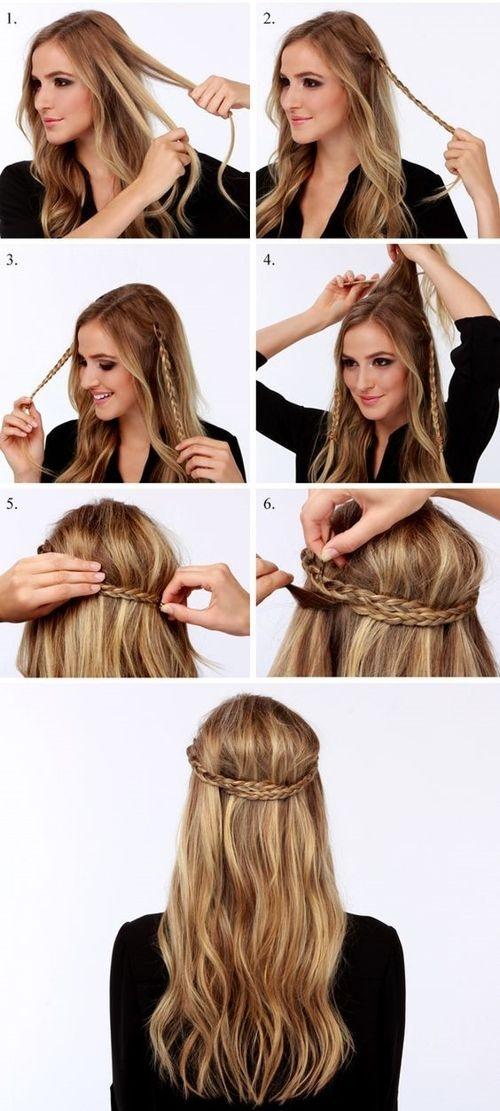 Paso a paso de peinados para cabello largo suelto 7