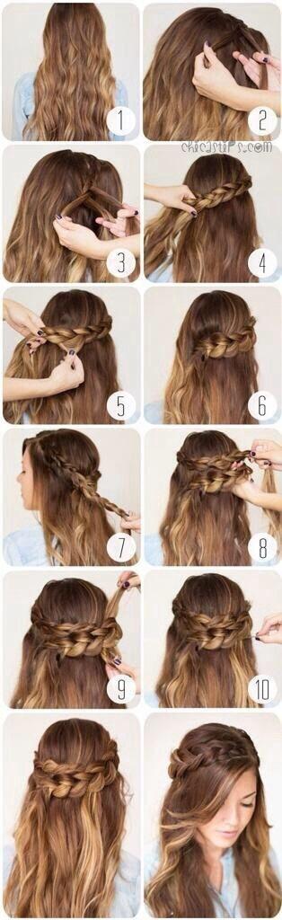 Paso a paso de peinados para cabello largo suelto 8