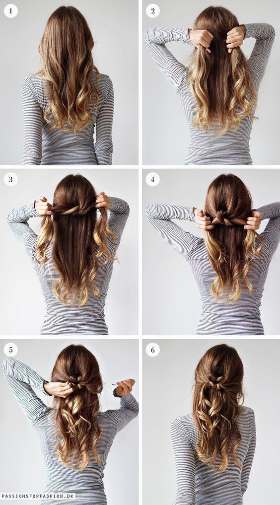 Paso a paso de peinados para cabello largo suelto 9