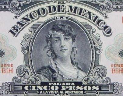 historia primer billete mexicano 5 pesos faure