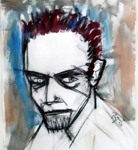 la vida de david bowie a traves de sus pinturas 1