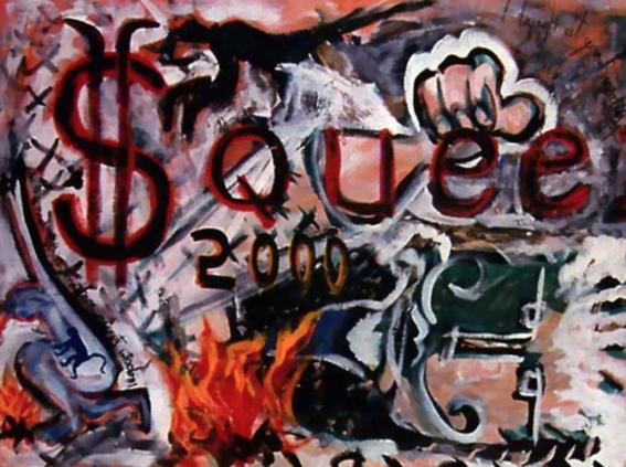 la vida de david bowie a traves de sus pinturas 4