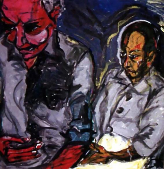 la vida de david bowie a traves de sus pinturas 5
