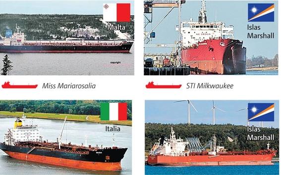 esperan buques petroleron en puertos mexicanos sin descargar gasolina 1