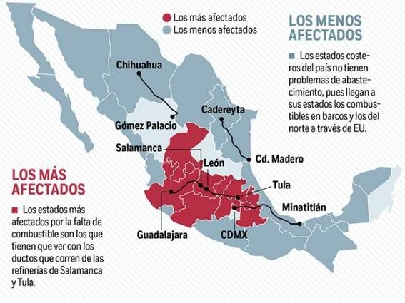 esperan buques petroleron en puertos mexicanos sin descargar gasolina 2