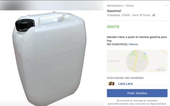 huachicol en facebook 1