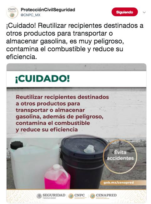 almacenar gasolina en recipientes es peligroso 2