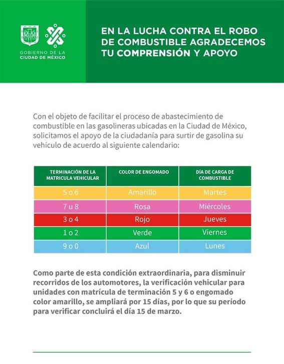 70 por ciento de los mexicanos usan calendario para cargar gasolina 2