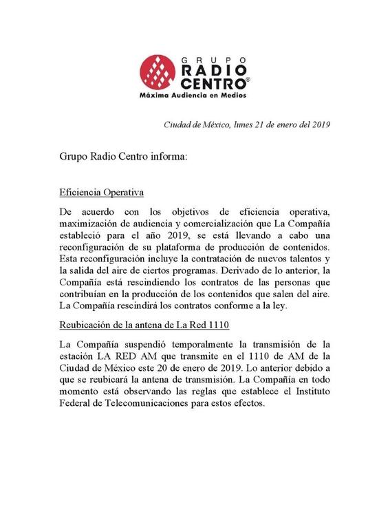 grupo radio centro podria estar en quiebra 1