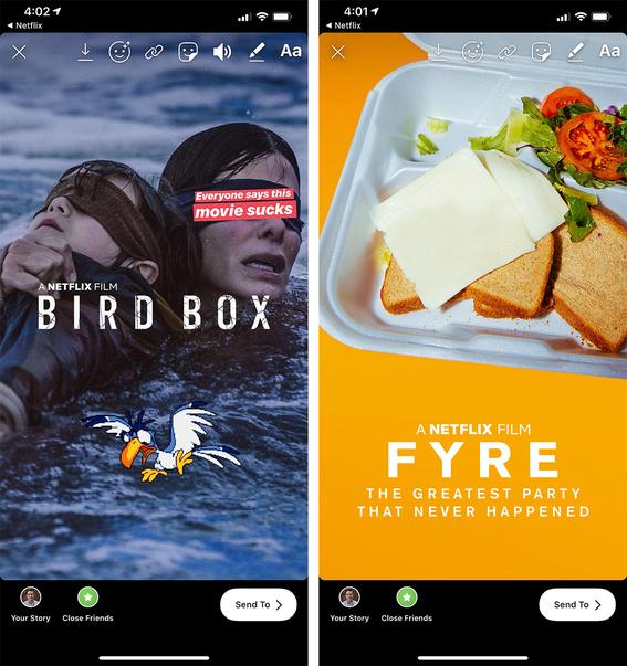 netflix permite compartir series y peliculas en instagram stories 1