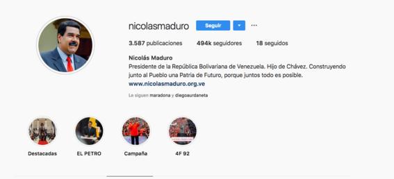 nicolas maduro instagram 1