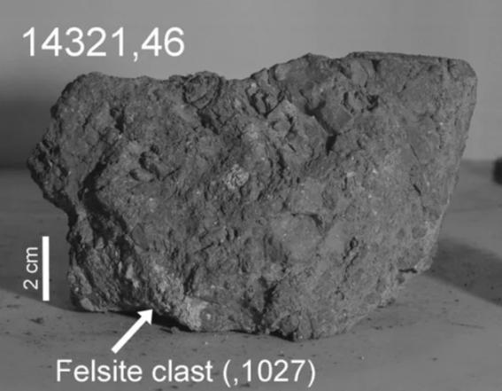 encontraron la roca mas antigua de la tierra en la luna 1
