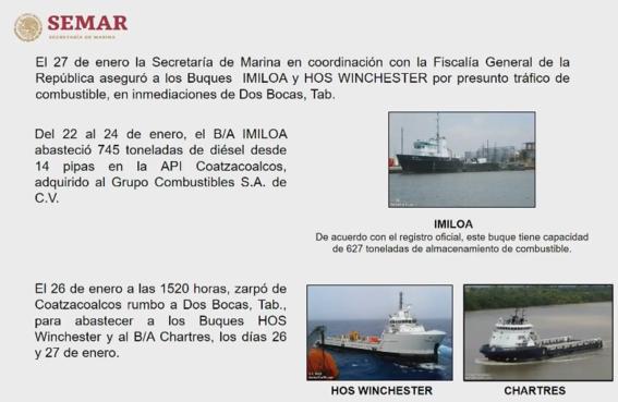 semar detuvo huachicoleros que robaban buques 2