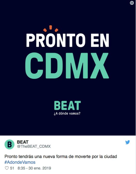 beat servicio de transporte llega a la ciudad de mexico 1