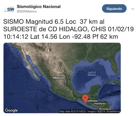 se registra sismo 6 grados richter cerca de chiapas 1
