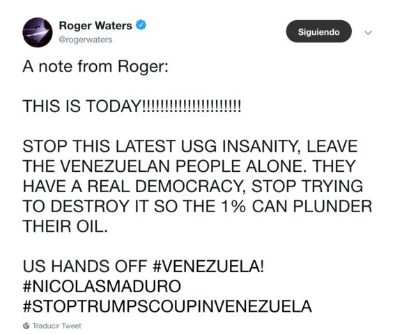 roger waters exige a eua dejar en paz al pueblo venezolano 2
