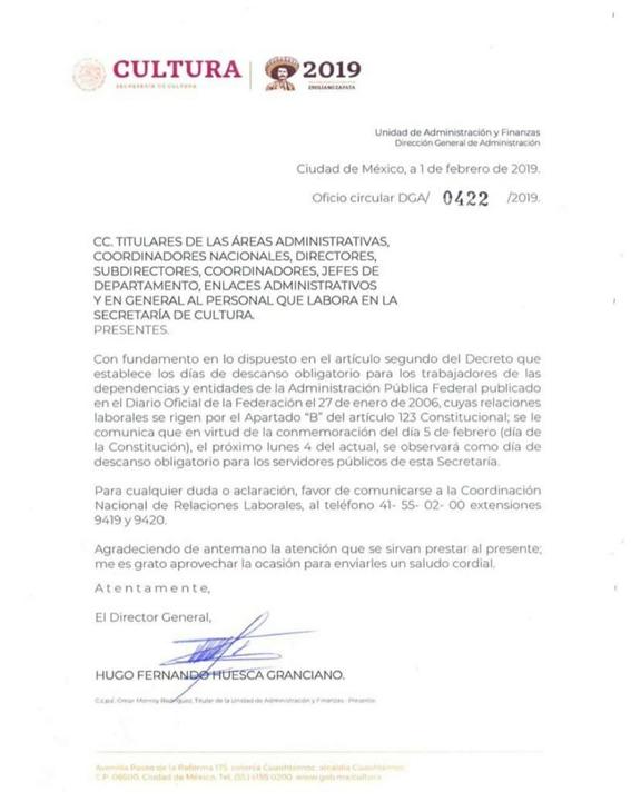 secretaria de cultura confunde fecha de la conmemoracion de la constitucion 2
