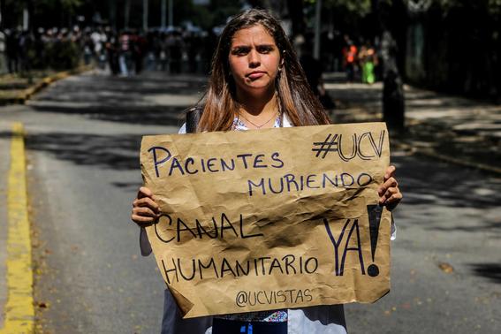 guaido exige ayuda humanitaria y maduro la rechaza 1