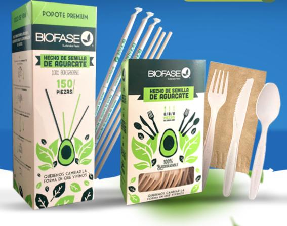 biofase empresa mexicana crea popotes y cubiertos de aguacate 1