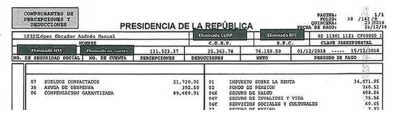 ¿cuanto gana amlo conoce el recibo de nomina del presidente de mexico 2