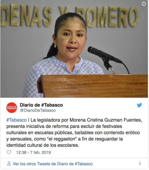 diputada de morena quiere prohibir reggaeton de escuelas de tabasco 1
