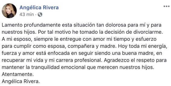 angelica rivera confirma divorcio con pena nieto 1