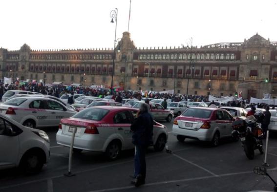 taxistas protestan contra aplicaciones en cdmx 1