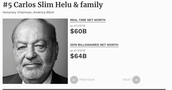 lista de los mas ricos del mundo 2019 forbes 1