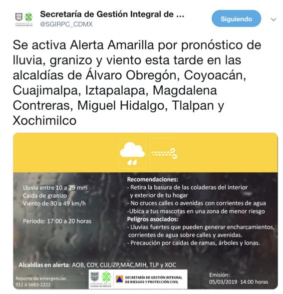 smn confirma reporte de clima seguiran lluvias en cdmx 1