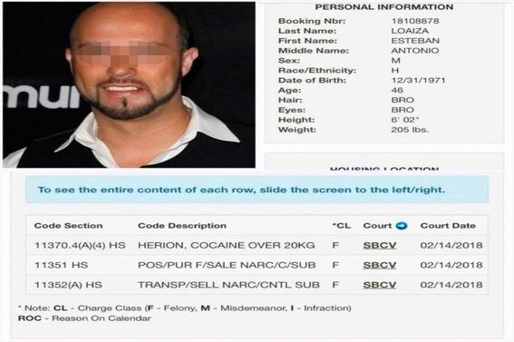 esteban loaiza condenado a tres anos de carcel por posesion de drogas 2