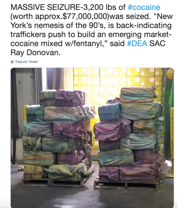 Cargamento más grande de coca en Nueva York salió de Buenaventura