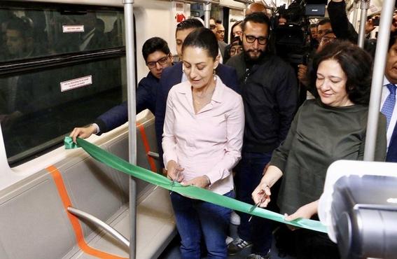 claudia sheinbaum estrena dos trenes de la linea 1 del metro 1
