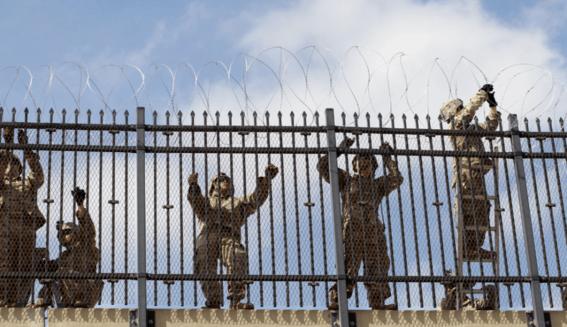 tijuana roban alambre de puas del muro fronterizo para sus casas 1