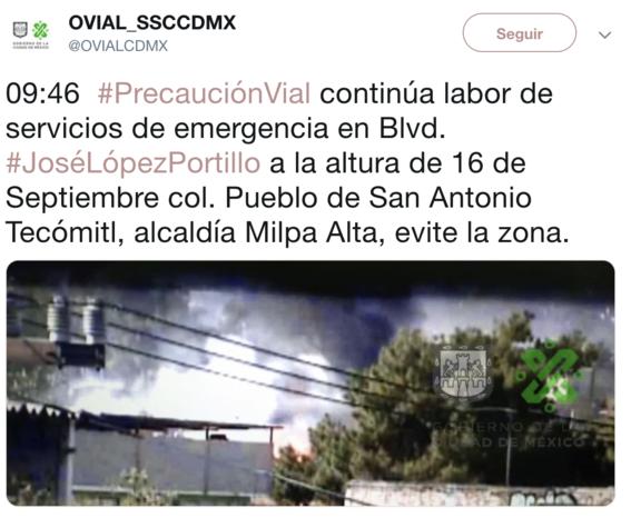 reportan varios heridos tras explosion de pipa en milpa alta 1
