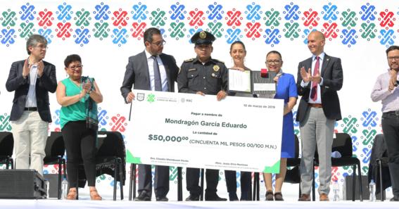 premio policia del mes en la cdmx 2